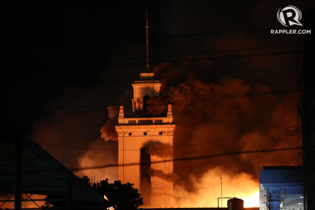 Manila Customs Building Fire