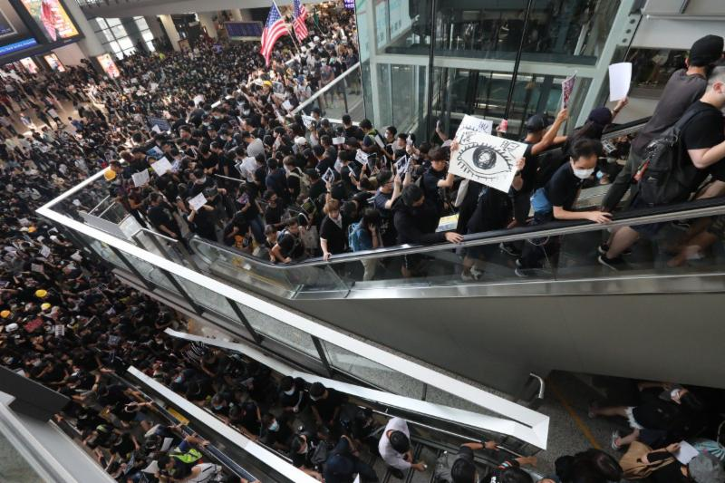 All Flights Cancelled For Second Day, As Protesters Occupy Hong Kong Airport