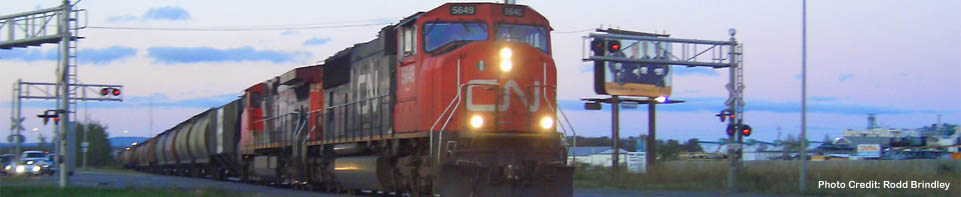 CN Train Crossing